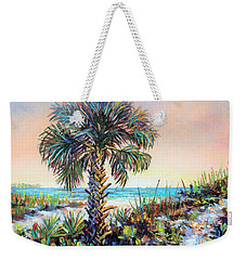 Cabbage Palm On Siesta Key Beach Weekender Tote Bag by Lou Ann Bagnall