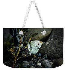 Weekender Tote Bag featuring the photograph Cabbage White Butterfly by Tikvah's Hope