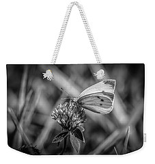 Cabbage White In Gray Weekender Tote Bag