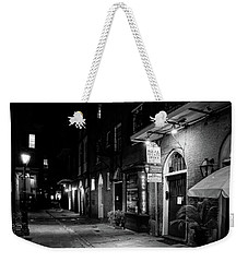 Cabildo Alley At Night In Black And White Weekender Tote Bag