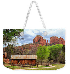 Weekender Tote Bag featuring the photograph Cabin At Cathedral Rock by James Eddy