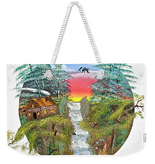 Cabin By The Falls Weekender Tote Bag