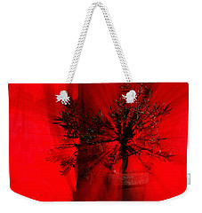 Weekender Tote Bag featuring the photograph Cabin Fever Dance by Susan Capuano