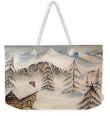 Cabin In The Rockies Weekender Tote Bag