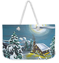 Cabin In The Woods Weekender Tote Bag by Donna Blossom