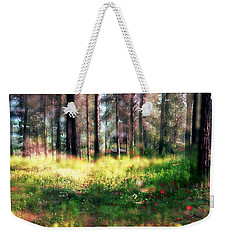 Cabin In The Woods In Menashe Forest Weekender Tote Bag