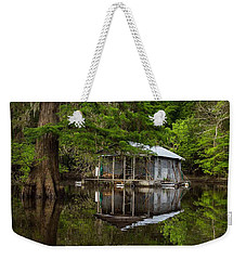 Cabin On The Lake Weekender Tote Bag