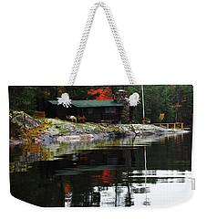 Cabin On The Rocks Weekender Tote Bag