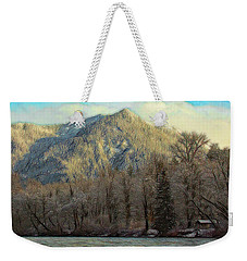 Cabin On The Skagit River Weekender Tote Bag