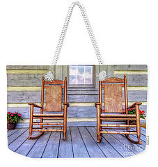 Cabin Porch Weekender Tote Bag by Marion Johnson