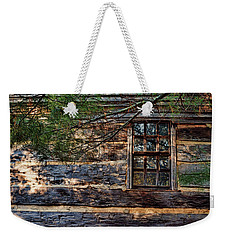 Weekender Tote Bag featuring the photograph Cabin Window by Joanne Coyle