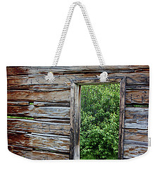 Cabin Window Weekender Tote Bag