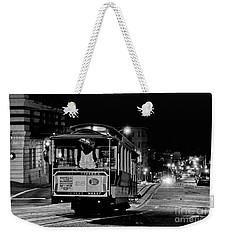 Cable Car At Night - San Francisco Weekender Tote Bag