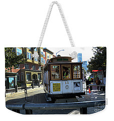 Weekender Tote Bag featuring the photograph Cable Car Turnaround by Steven Spak