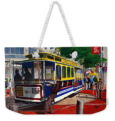 Cable Car Turntable At Powell And Market Sts. Weekender Tote Bag by Mike Robles