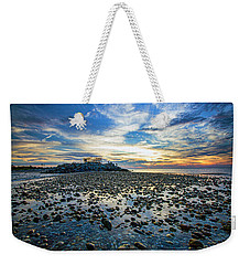 Cable Crossing Orient Point Sunset Weekender Tote Bag