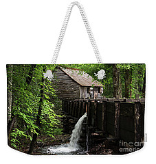 Weekender Tote Bag featuring the photograph Cable Grist Mill by Andrea Silies