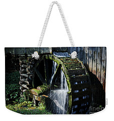 Weekender Tote Bag featuring the photograph Cable Mill Water Wheel by Douglas Stucky