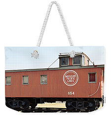 Weekender Tote Bag featuring the photograph Caboose by Ray Shrewsberry