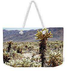 Weekender Tote Bag featuring the photograph Cacti In Joshua Tree National Park by Kathleen Scanlan