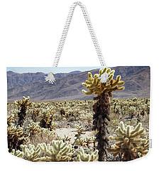 Cacti In Joshua Tree National Park Weekender Tote Bag by Kathleen Scanlan
