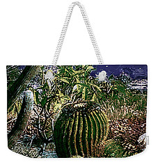 Weekender Tote Bag featuring the photograph Cacti by Lori Seaman