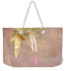 Weekender Tote Bag featuring the photograph Cactus Bloom by Judy Hall-Folde
