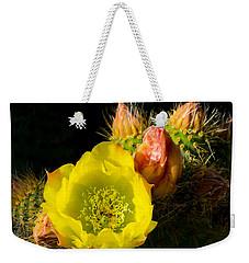 Cactus Blossom  Weekender Tote Bag by Derek Dean