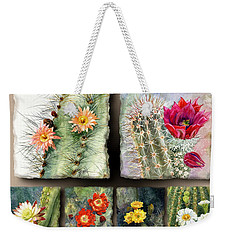 Weekender Tote Bag featuring the painting Cactus Collage 10 by Marilyn Smith