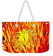 Cactus Flower Weekender Tote Bag by Judi Saunders