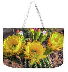 Cactus Flower Weekender Tote Bag by Mark Dunton