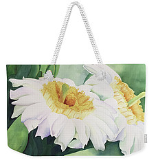 Cactus Flower Weekender Tote Bag by Teresa Beyer