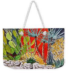 Cactus Garden  Weekender Tote Bag by Fred Jinkins