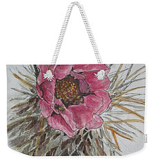 Weekender Tote Bag featuring the painting Cactus Joy by Sharyn Winters