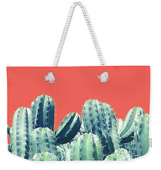 Cactus On Coral Weekender Tote Bag by Uma Gokhale