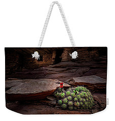 Cactus On Fire Weekender Tote Bag