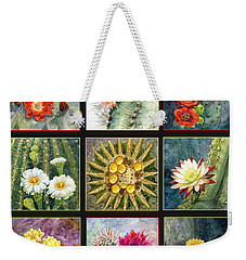 Weekender Tote Bag featuring the painting Cactus Series by Marilyn Smith