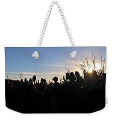 Weekender Tote Bag featuring the photograph Cactus Silhouettes by Matt Harang