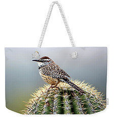 Cactus Wren On Saguaro Weekender Tote Bag