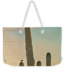Weekender Tote Bag featuring the photograph Cactus Wren Serenade by Dan McManus