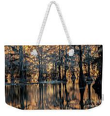 Caddo Lake Sunrise Weekender Tote Bag by Iris Greenwell