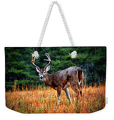 Cades Cove - The Buck Stopped Here 002 Weekender Tote Bag by George Bostian