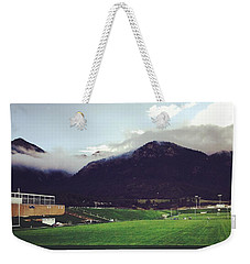 Weekender Tote Bag featuring the photograph Cadet Athletic Fields by Christin Brodie