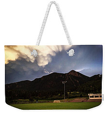 Weekender Tote Bag featuring the photograph Cadet Soccer Stadium by Christin Brodie