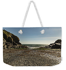 Weekender Tote Bag featuring the photograph Cadgwith Cove Beach by Brian Roscorla