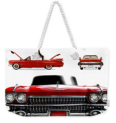 Weekender Tote Bag featuring the photograph Cadillac 1959 by Gina Dsgn