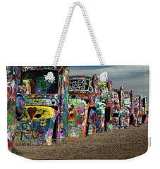 Cadillac Ranch Weekender Tote Bag by Tim Stanley