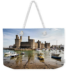 Caernarfon Castle, North Wales Weekender Tote Bag by Shirley Mitchell