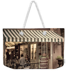 Cafe Beignet 2 Weekender Tote Bag by Jerry Fornarotto