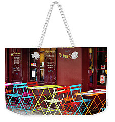 Cafe Color - Paris, France Weekender Tote Bag by Melanie Alexandra Price